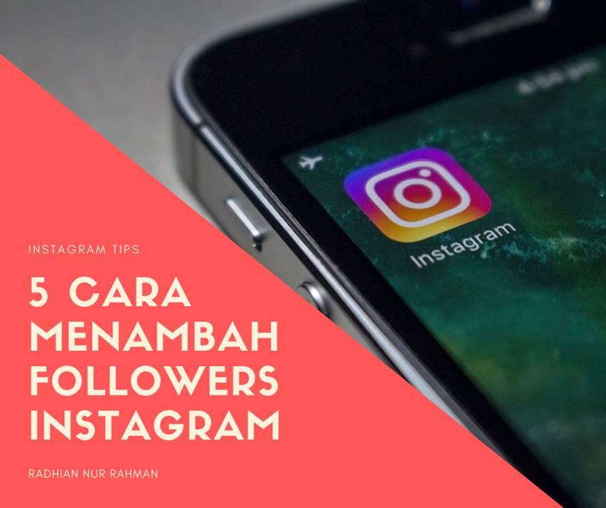 tips menambah followers instagram