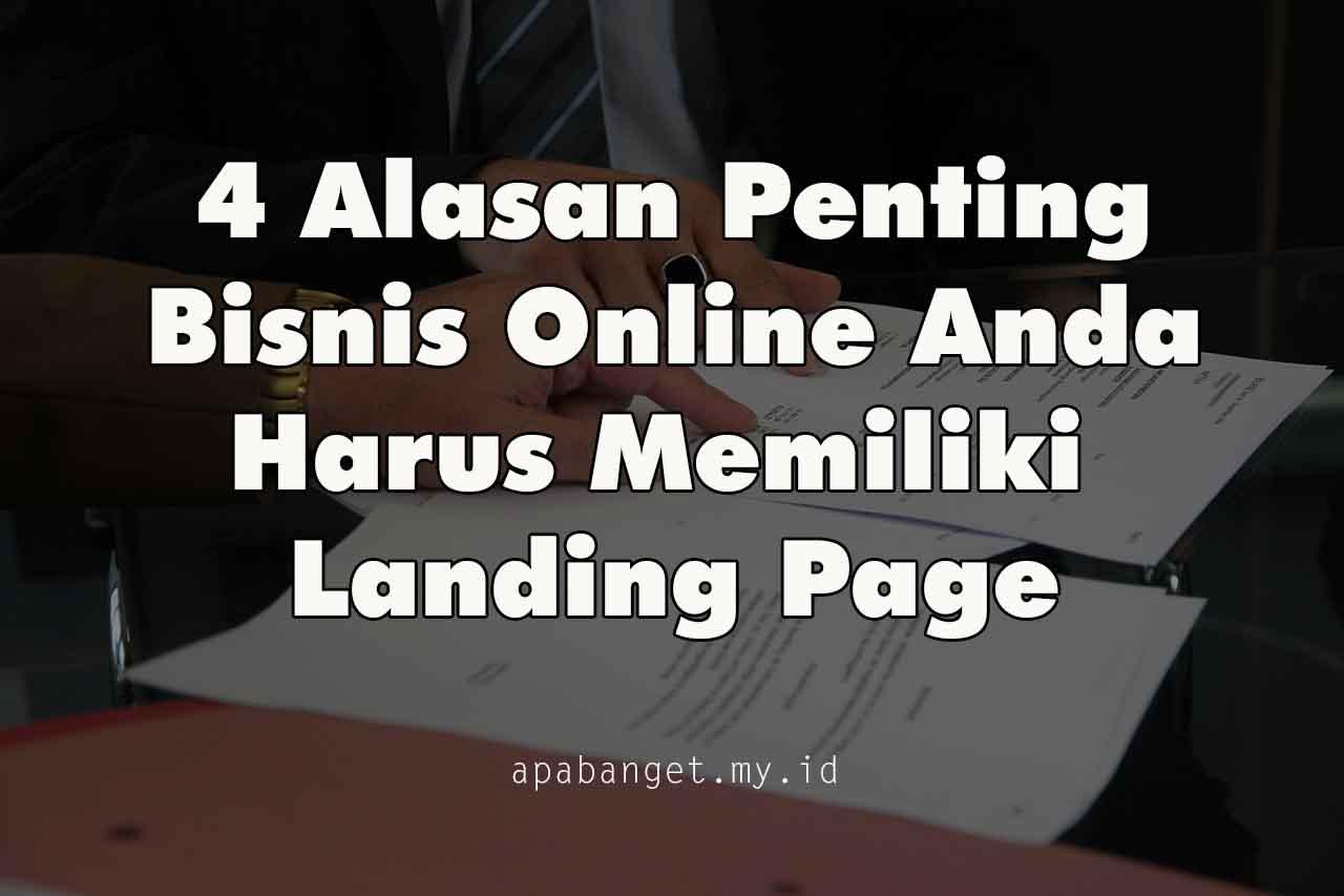 4 alasan memiliki landing page