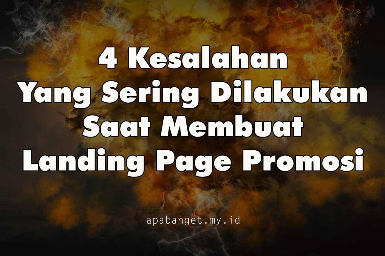 4 kesalahan membuat landing page
