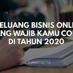 5 peluang bisnis online tahun 2020